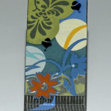 Nouveau Floral-Blue Series #1