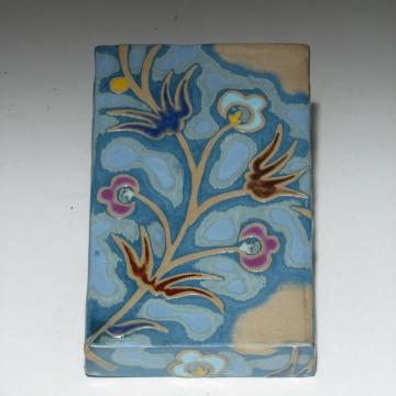 Violet Petals Art Tile