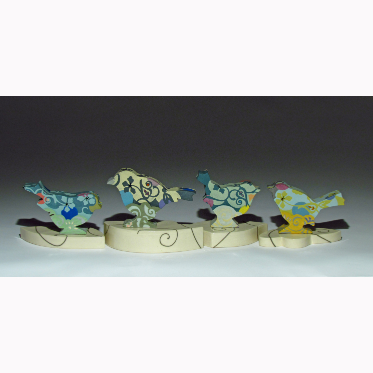 """'Feathers Up"""" porcelain songbird collection"""