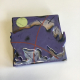 Purple Rhino Dimensional Stoneware Art Tile