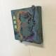 Side view of Jade Koala Art Tile