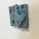 Side view of Aqua Rooster Art Tile