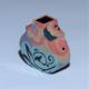 Turquoise, Coral Mini Bud Vase in Porcelain