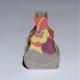 Coral, Lemon and Lavender Mini Bud Vase In Porcelain