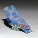 Blue flock sculptural porcelain bird