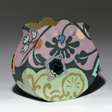 Shells and Floral Pouch Vase