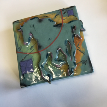Jade Horse Dimensional Stoneware Art Tile