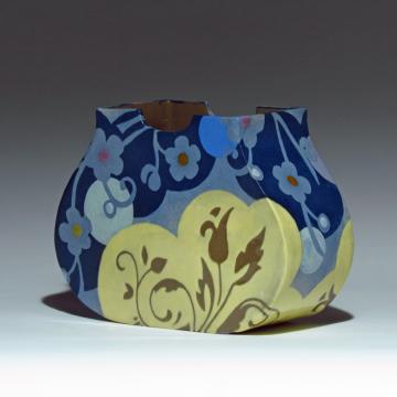Blue Pouch Vase