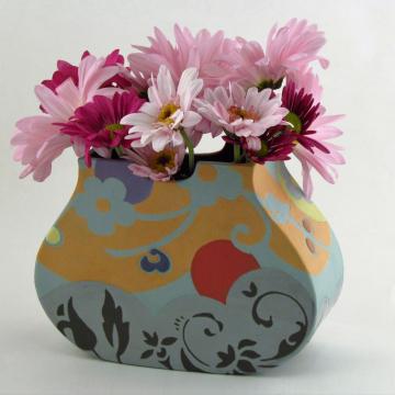 Apricot-Multi Pouch Vase