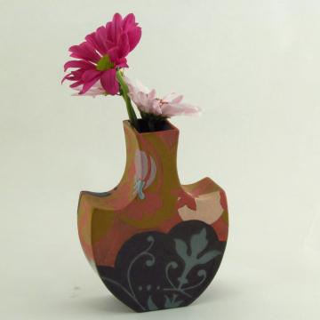 Coral Porcelain Bud Vase
