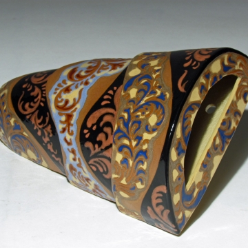 Arabesque in Blue and Brown